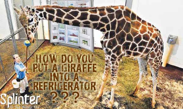 How do you put a Giraffe in a refrigerator?
