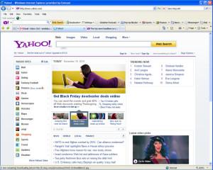 Yahoo Front Page Nov. 19, 2010