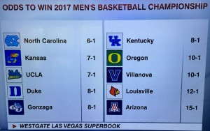 Odd for 2017 MarchMadness